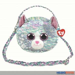 "Ty Fashion - Pailletten-Schultertasche 23 cm - Katze ""Whimsy"