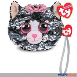 """Ty Fashion - Pailletten-Geldbörse 11 cm - Katze """"Kiki"""""""