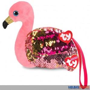 """Ty Fashion - Pailletten-Geldbörse 11 cm - Flamingo """"Gilda"""""""