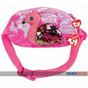 "Ty Fashion - Pailletten-Gürteltasche 25 cm - Flamingo ""Gilda"