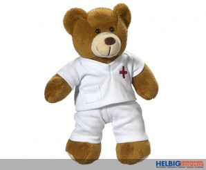 """Plüsch-Bär """"Doktor/Krankenpfleger-Bär"""" 26 cm"""