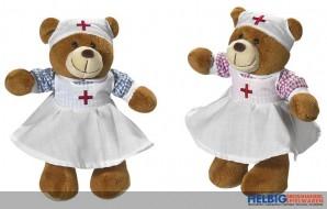 """Plüsch-Bär """"Krankenschwester-Bär"""" 26 cm"""