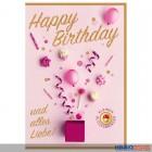 """Glückwunschkarte Geburtstag """"Happy Birthday & alles Liebe!"""""""