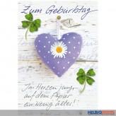 """Glückwunschkarte Geburtstag """"Im Herzen jung..."""""""