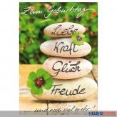 "Glückwunschkarte Geburtstag ""Liebe Kraft Glück Freude"""