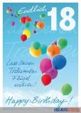 """Glückwunschkarte 18. Geburtstag """"Endlich 18"""""""