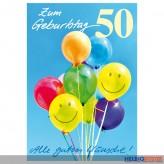 """Glückwunschkarte 50. Geburtstag """"Alle guten Wünsche"""""""