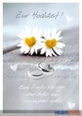 """Glückwunschkarte Hochzeit """"2 Singles weniger..."""""""