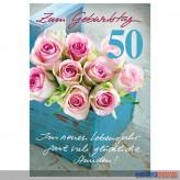 """Glückwunschkarte 50. Geburtstag """"..viele glückliche Stunden"""""""