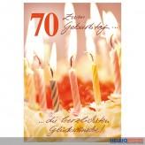"""Glückwunschkarte 70. Geburtstag """"Geburtstagskerzen"""""""