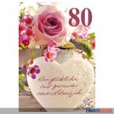 """Glückwunschkarte 80. Geburtstag """"Glückliches...Lebensjahr"""""""