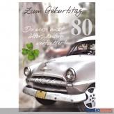 """Glückwunschkarte 80. Geburtstag """"...nicht älter, wertvoller"""""""
