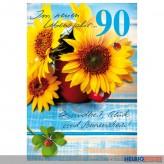 "Glückwunschkarte 90. Geburtstag ""...Gesundheit, Glück &..."""