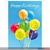"Glückwunschkarte Geburtstag ""Happy Birthday - Luftballons"""