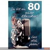 """Glückwunschkarte 80. Geburtstag """"...echter Klassiker"""""""