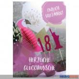 """Glückwunschkarte 18. Geburtstag """"Endlich Volljährig!"""""""