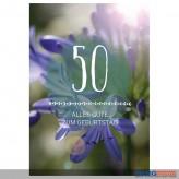 """Glückwunschkarte 50. Geburtstag """"Alles Gute zum Geburtstag"""""""