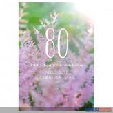 """Glückwunschkarte 80. Geburtstag """"Alles Gute zum Geburtstag"""""""