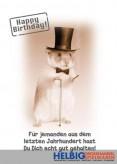 """Glückwunschkarte Geburtstag """"...echt gut gehalten"""" - Maus"""