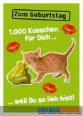 """Glückwunschkarte Geburtstag """"1000 Küsschen für dich"""""""