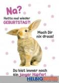 """Glückwunschkarte Geburtstag """"...junger Hüpfer - Hase"""""""