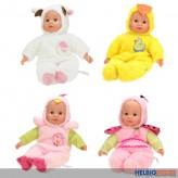 """Baby-Puppe """"Baby Cute"""" inkl. Tierkostüm - 4-sort."""