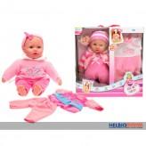 """Baby-Puppe-Geschenkset """"Cute Baby"""" 40 cm - 2-sort."""