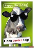 """Glückwunschkarte Geburtstag """"Einen coolen Tag - Kuh"""""""