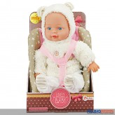 "Baby-Puppe ""Lovely Baby"" inkl. Puppen-Kindersitz"