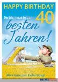 """Glückwunschkarte 40. Geburtstag """"Beste Jahre"""""""