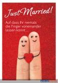 """Glückwunschkarte Hochzeit """"Just married"""""""