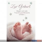 """Glückwunschkarte Geburt """"Träume und Wünsche erfüllen"""""""
