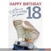 """Glückwunschkarte 18. Geburtstag """"...richtig gut gehen"""""""