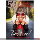 """Glückwunschkarte 50. Geburtstag """"...die Besten"""""""