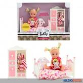 """Puppen-Spielset """"Lilly Deluxe Schlafzimmer"""" inkl. Zubehör"""