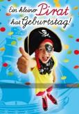 """Glückwunschkarte Kindergeburtstag """"Kleiner Pirat..."""""""