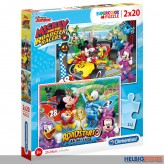 "2er Puzzle-Set ""Mickey & Minnie Racers"" 2 x 20 Teile"
