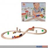 "Holz-Eisenbahn ""Achterbahn"" 35-tlg. - inkl. Zubehör"
