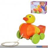 """Holz-Nachziehtier """"Ente Quack"""" - 16 cm"""
