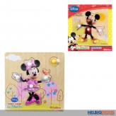 "Disney Holz-Formenpuzzle ""Mickey & Minnie Pin Puzzle"" 2-sort"