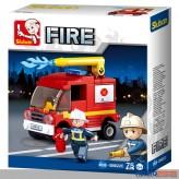 """Steckbausteine-Sortiment """"Feuerwehr / Fire"""" 3-sort."""