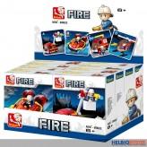 """Steckbausteine-Sortiment """"Feuerwehr / Fire"""" 4-sort."""