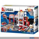"""Steckbausteine-Set """"Feuerwehr/Fire"""" Feuerwehr-Wache gr."""