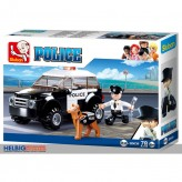 "Steckbausteine-Set ""Polizei Hundestaffel / Police Car & Dog"""