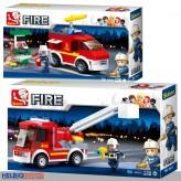 """Steckbausteine-Set """"Feuerwehr / Fire"""" Auto - 2-sort."""