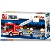 """Steckbausteine-Set """"Feuerwehr Leiterwagen/ Fire"""""""