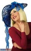 Damenhut mit Schwung - blau