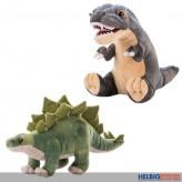 Plüsch-Dinosaurier 33 cm - 2-sort.