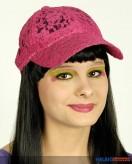 Baseball-Kappe mit Spitze - pink