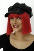 Pailetten-Mütze - schwarz